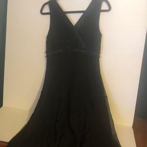 Holiday Perfect Black Silk Dress